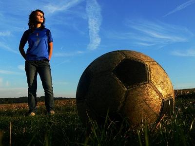 Женщина о футболе